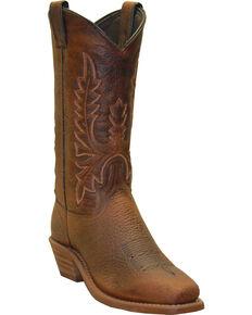 "Abilene Women's 11"" Bison Western Boots, Brown, hi-res"