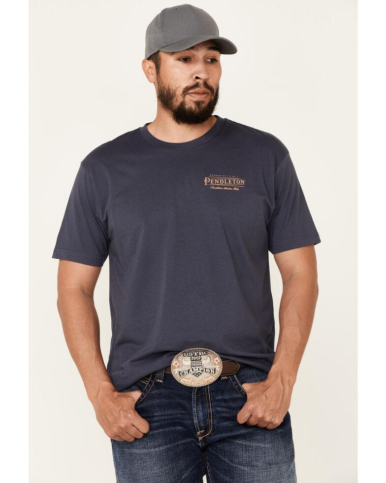 Pendleton Men's Blue Vintage Logo Short Sleeve T-Shirt , Blue, hi-res