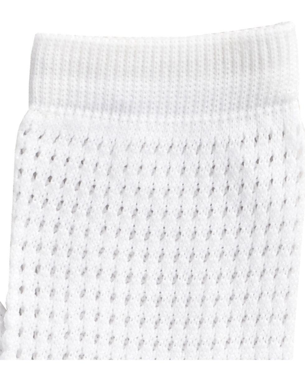 Shyanne White Mesh Crew Socks , White, hi-res