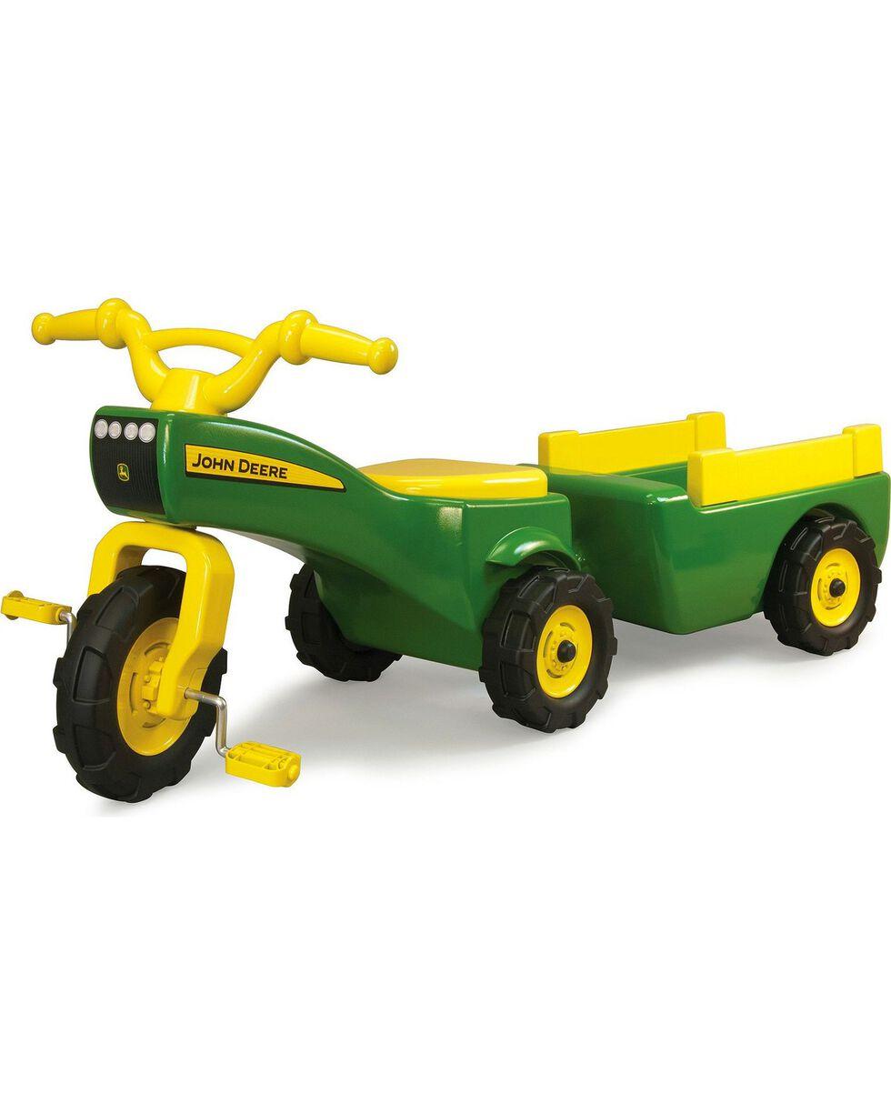 John Deere Trike & Wagon Set, Green, hi-res