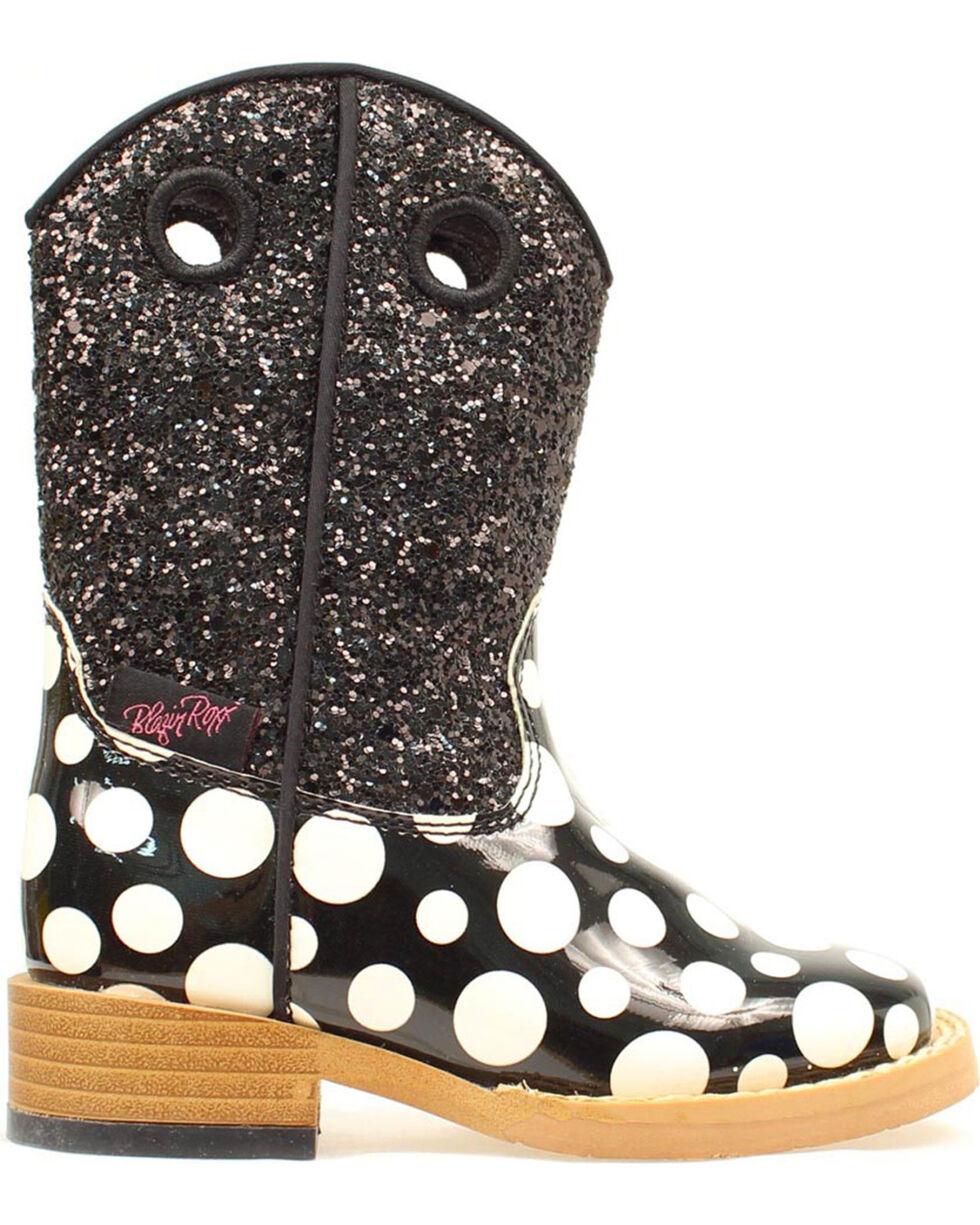 Blazin Roxx Toddler Girls' Pearl Polka Dot Boots, Black, hi-res