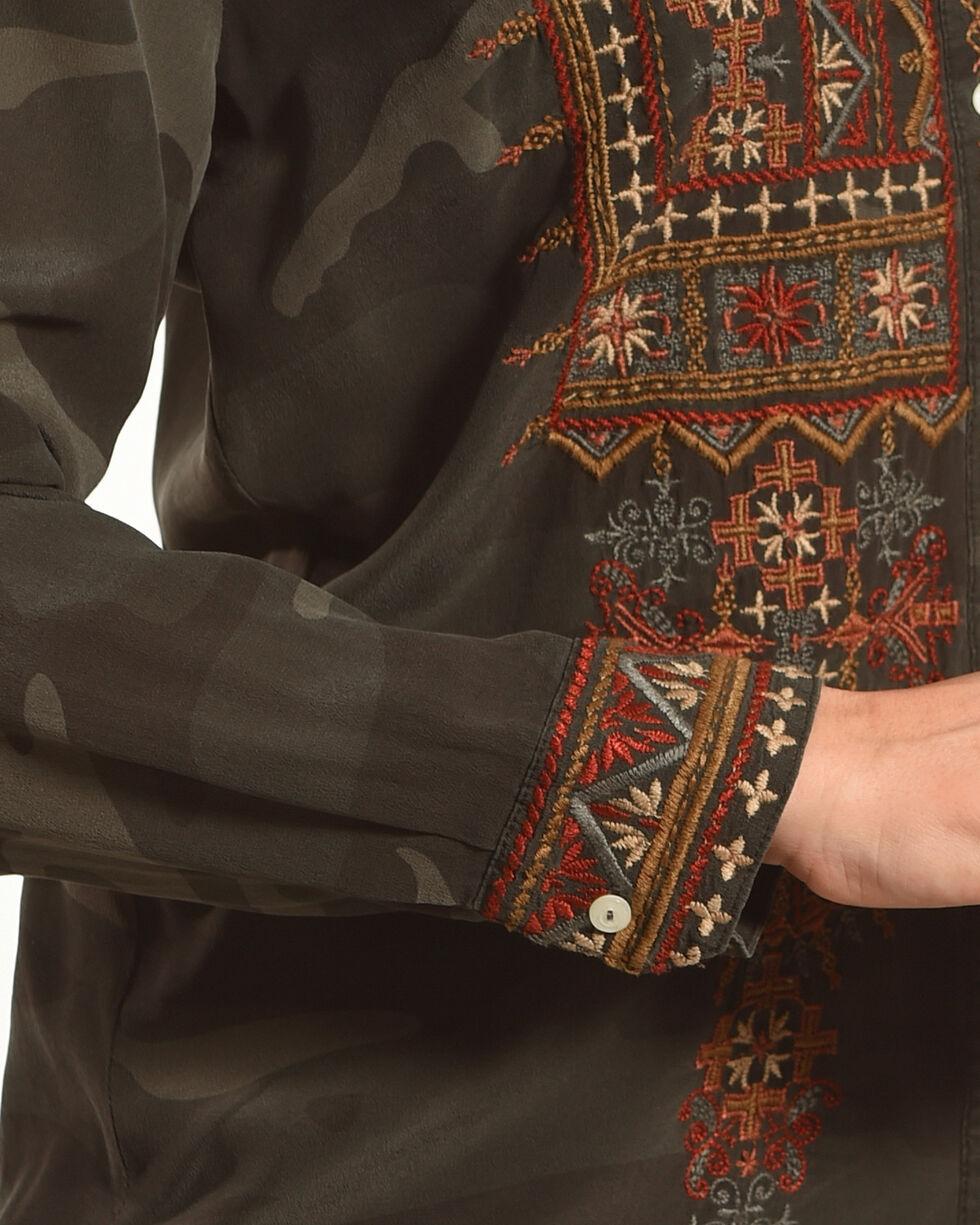 Johnny Was Women's Camo Valea Long Sleeve Basic Shirt , Camouflage, hi-res