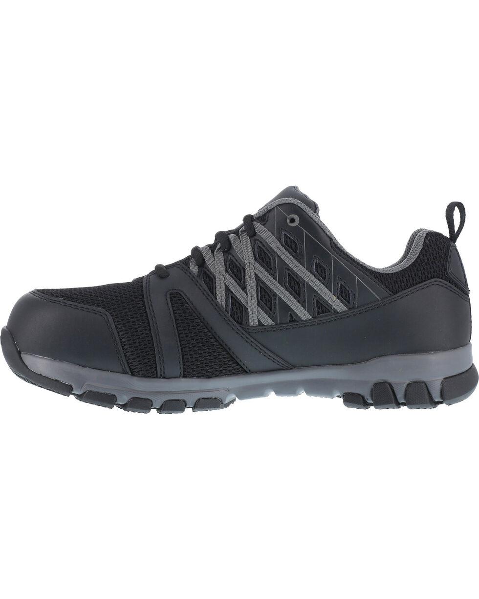 Reebok Women's Sublite Athletic Oxford Work Shoes - Steel Toe , Black, hi-res