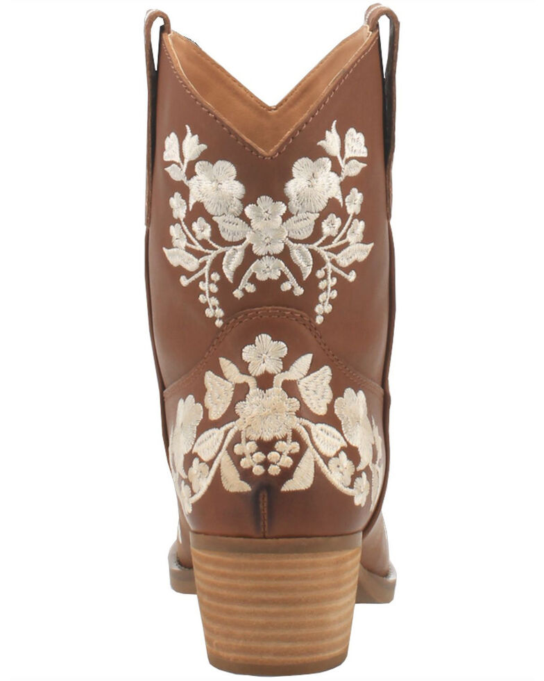 Dingo Women's Take A Bow Western Booties - Snip Toe, Brown, hi-res
