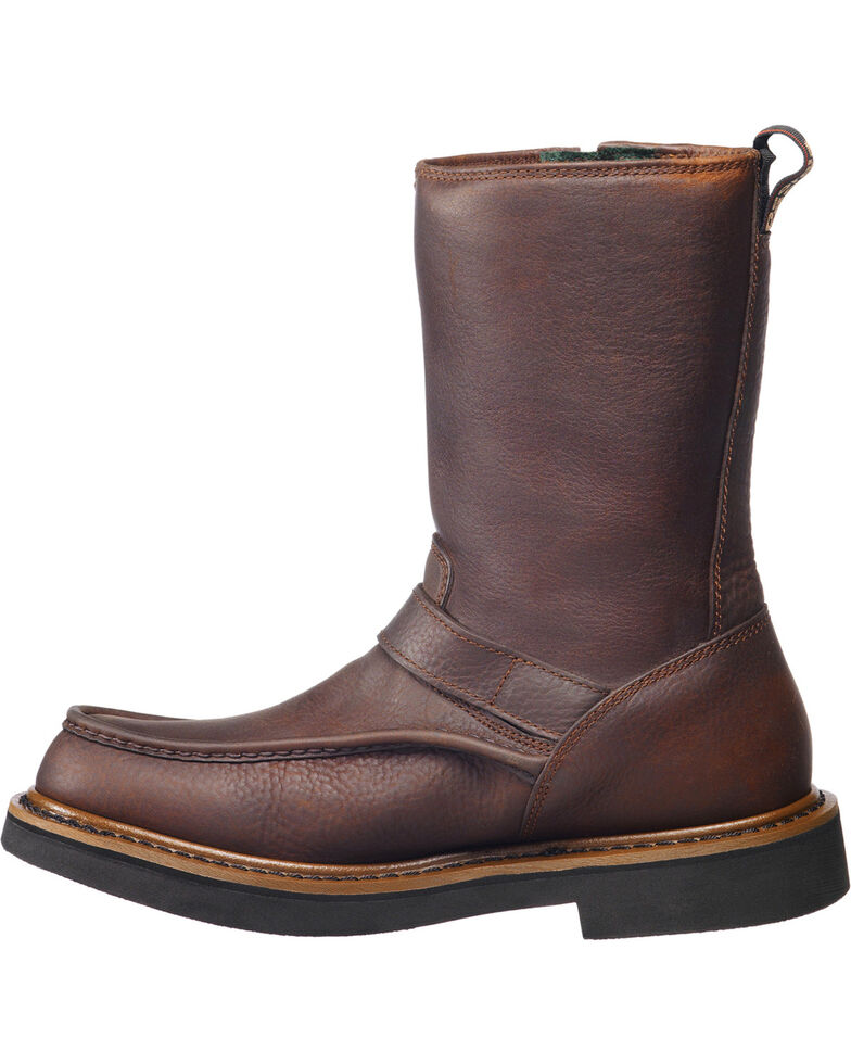 Georgia Men's Wellington Waterproof Work Boots, Copper, hi-res
