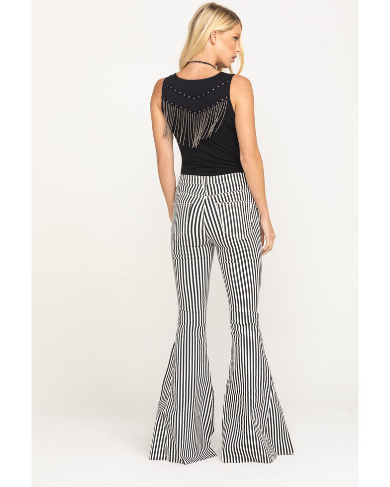 By Together Women's Stripe Extra Flare Pants, Multi, hi-res