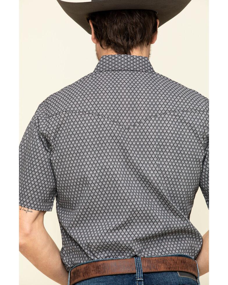 Ely Cattleman Men's Multi Geo Print Short Sleeve Western Shirt , Black, hi-res