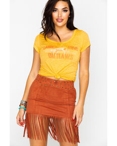 Idyllwind Women's Outlaw Trustie Tee, Dark Yellow, hi-res