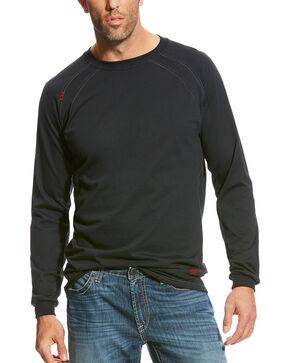 Ariat Men's Black FR Long Sleeve Work Crew Shirt , Black, hi-res