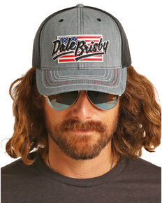 Dale Brisby Men s American Flag Patch Mesh Cap 1b293df58eed