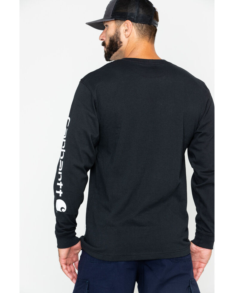 Carhartt Men's Long Sleeve Graphic T-Shirt, Black, hi-res