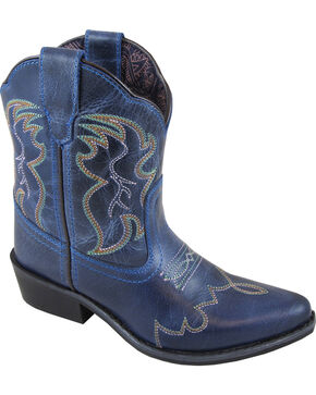 Smoky Mountain Girls' Blue Juniper Western Boots - Pointed Toe , Blue, hi-res