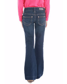 Rock & Roll Cowgirl Girls' Dark Wash Trousers , Blue, hi-res