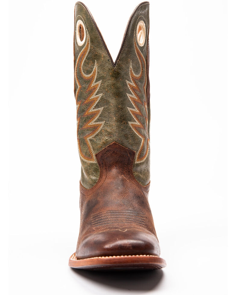 Cody James Men's Union Western Boots - Wide Square Toe, Green, hi-res