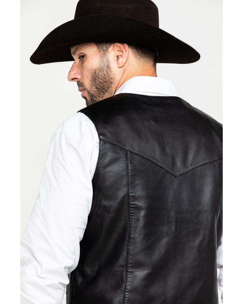 Liberty Wear Men's Jackson Lambskin Leather Vest , Black, hi-res