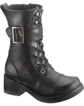 Harley-Davidson Women's Jammie Lace Up Casual Boots, Black, hi-res