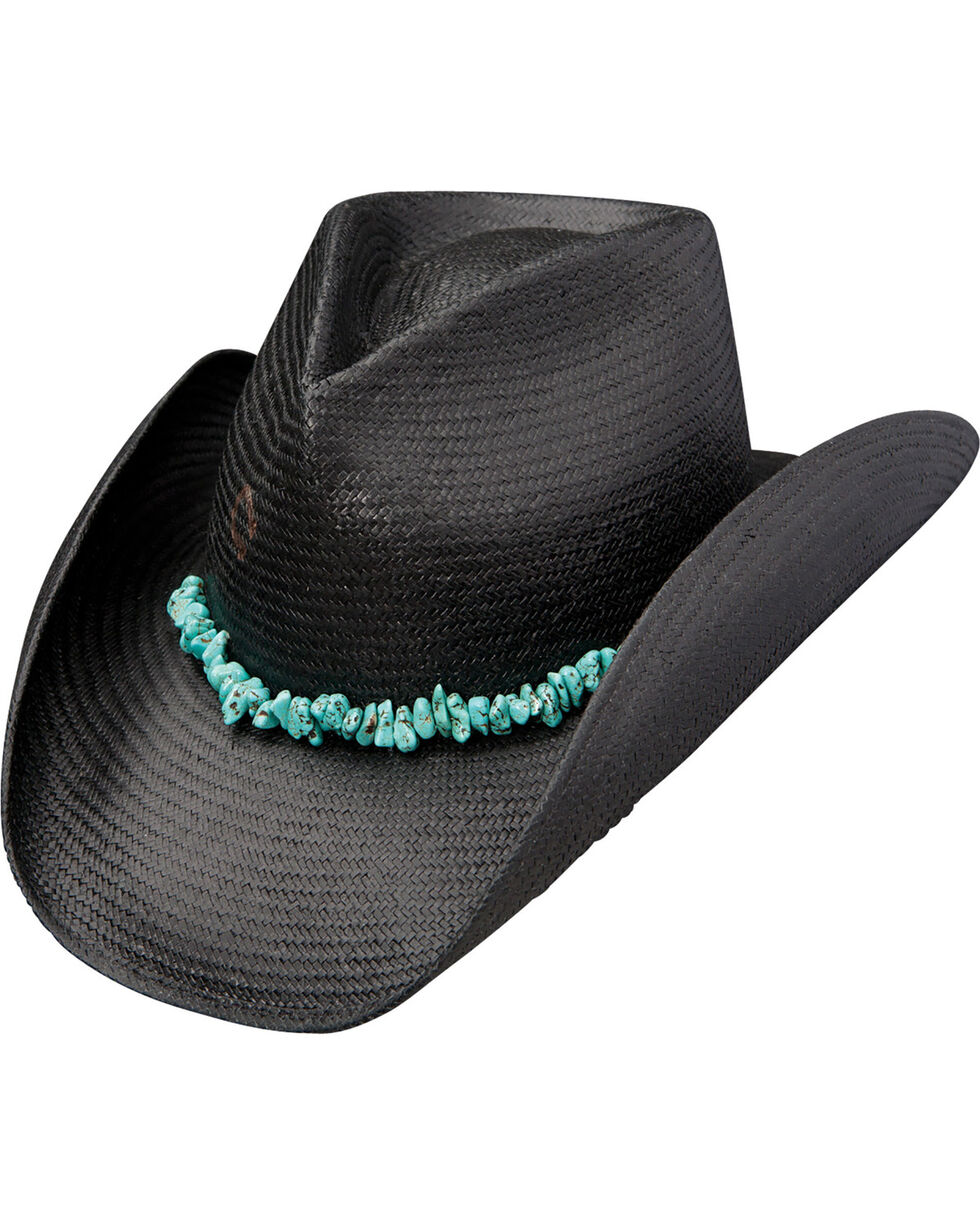 Charlie 1 Horse Women's Tulum Straw Cowgirl Hat, Black, hi-res