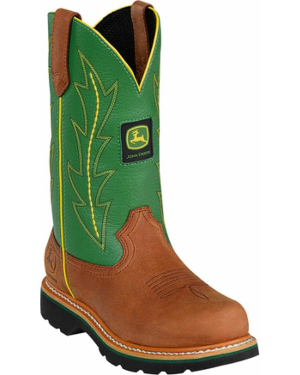 John Deere® Women's Wellington Western Boots, Tan, hi-res