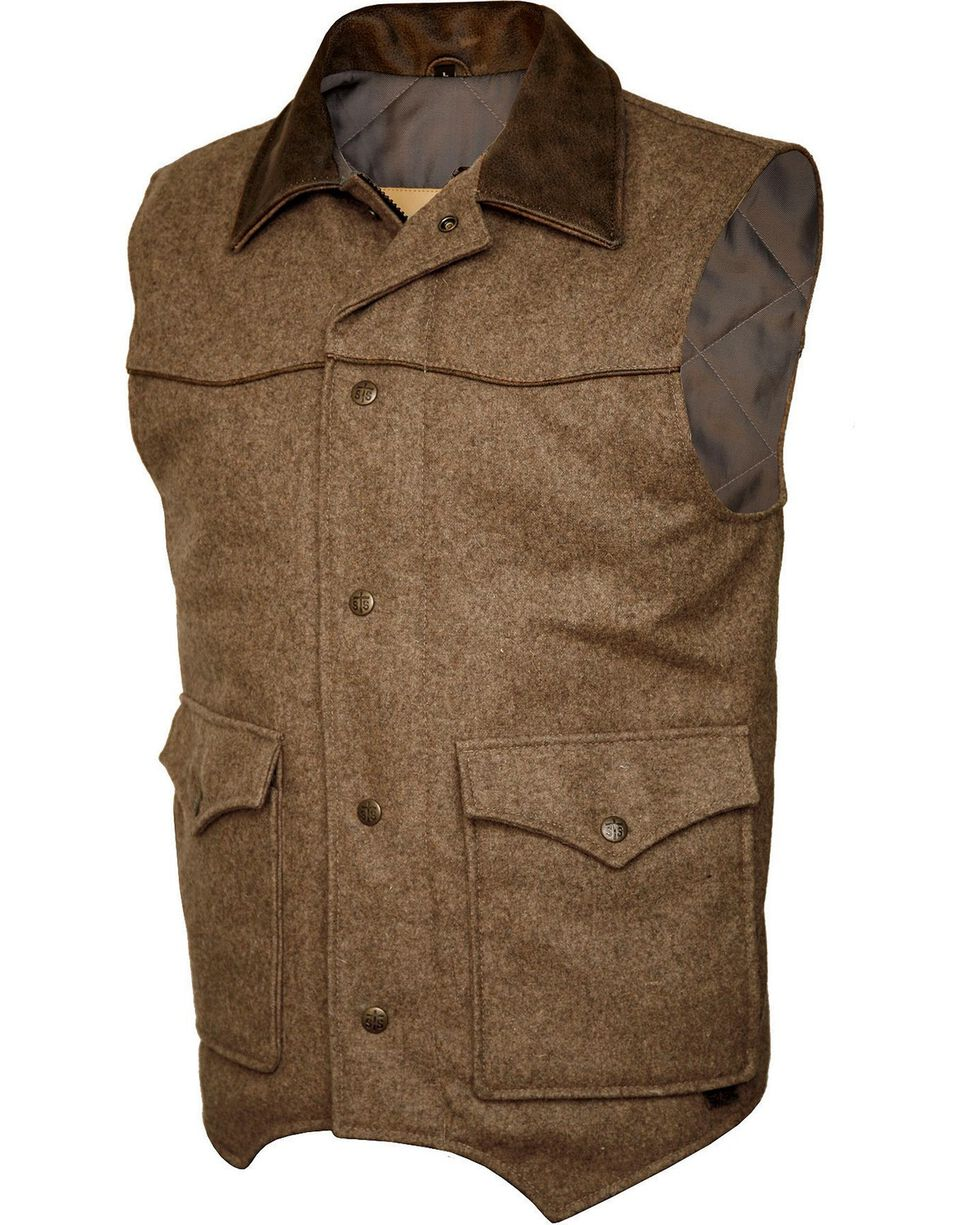 STS Ranchwear Men's Lariat Brown Vest - Big & Tall - 2XL-3XL, Brown, hi-res