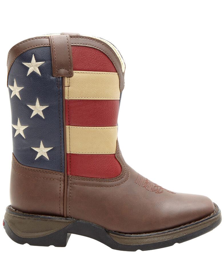 Durango Kid's Flag Western Boots, Brown, hi-res