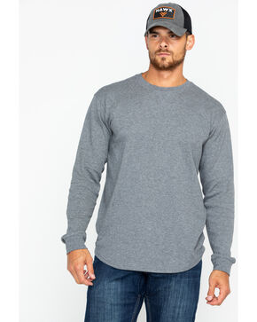 Hawx Men's Thermal Crew Work Tee , Light Grey, hi-res