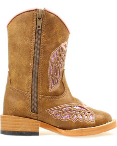 3d9bc37506a6 Blazin Roxx Toddler Girls Gracie Wing Cross Inlay Boots, Brown, hi-res