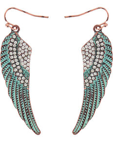 Shyanne® Women's Turquoise Angel Wing Earrings, Turquoise, hi-res