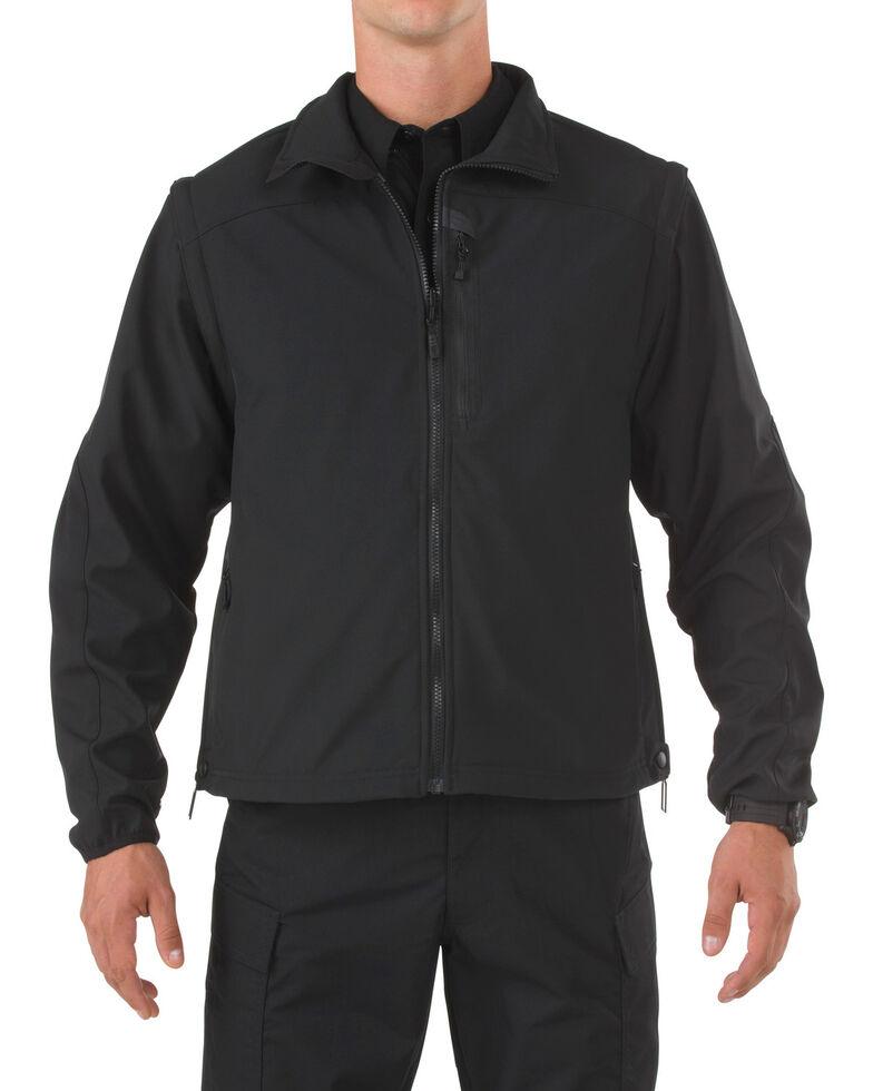 5.11 Tactical Valiant Softshell Jacket - 3XL-4XL, Black, hi-res