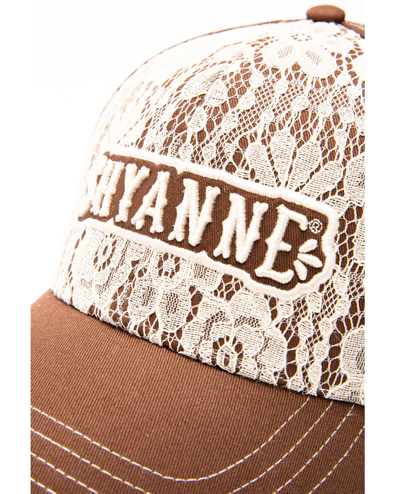 Shyanne Women's Lace Logo Cap , Brown, hi-res