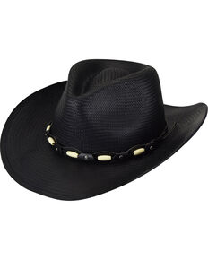 Bailey Gallup Black Western Hat, Black, hi-res