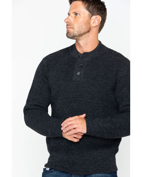 Filson Men's 5GG Henley Sweater, Charcoal, hi-res