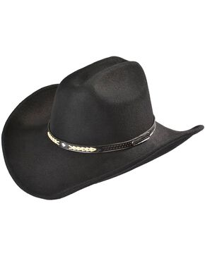 Outback Unisex Out of the Chute Hat, Black, hi-res