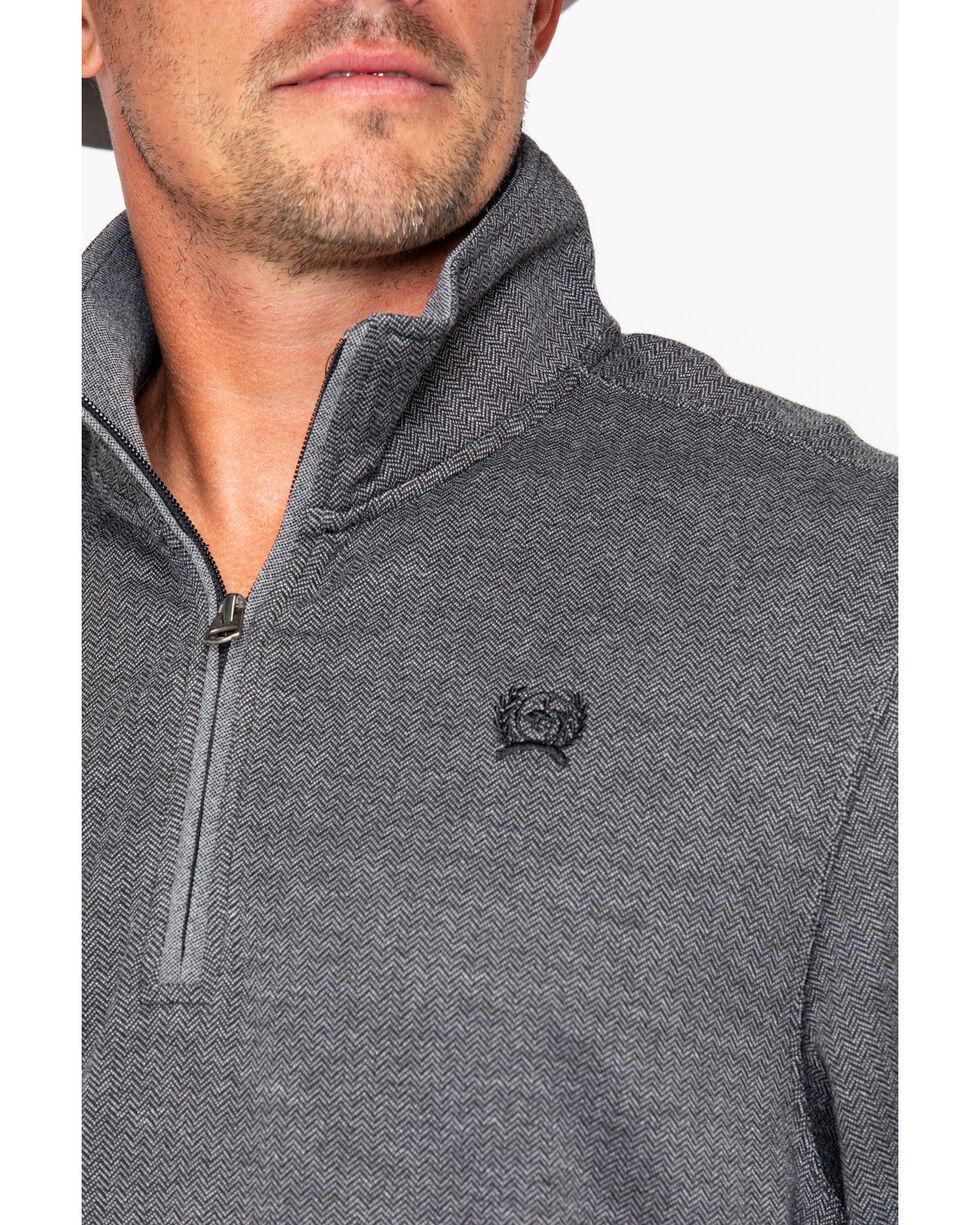 Cinch Men's Charcoal 1/4 Zip Pullover , , hi-res