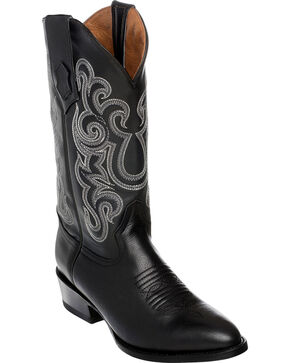 Ferrini Men's French Calf Leather Cowboy Boots - Medium Toe, Black, hi-res