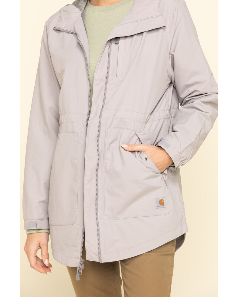 Carhartt Women's Grey Rain Defender Nylon Coat  , Grey, hi-res
