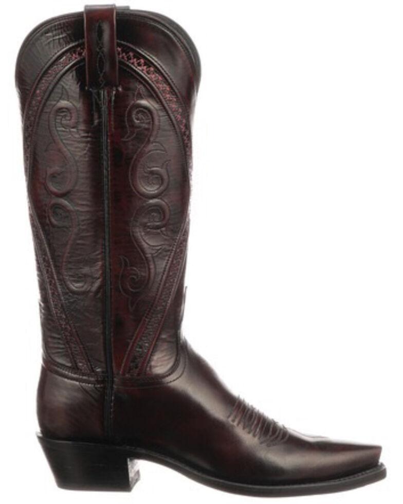 Lucchese Women's Darlene Western Boots - Snip Toe, Black Cherry, hi-res