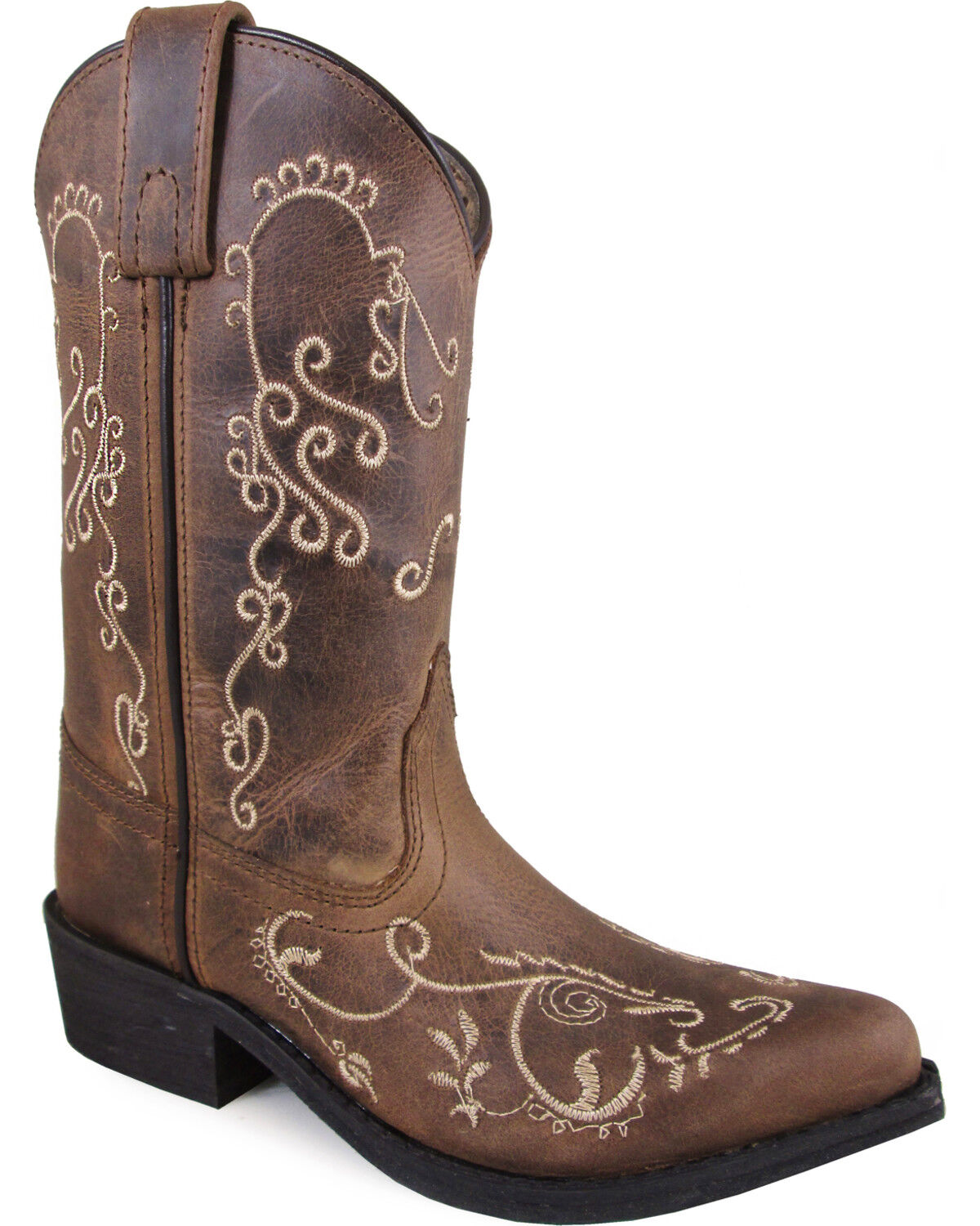Smoky Mountain Youth Girls Marilyn Brown Leather Cowboy Boots