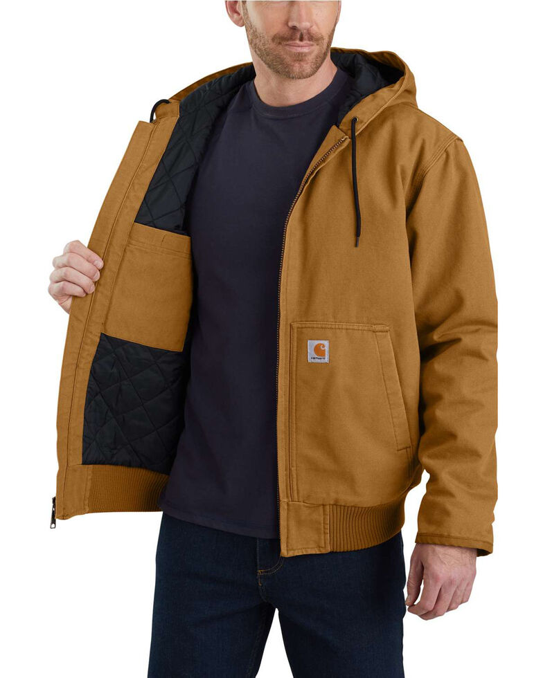 Carhartt Men's Sandstone Lined M 130 Active Work Jacket - Tall , Brown, hi-res