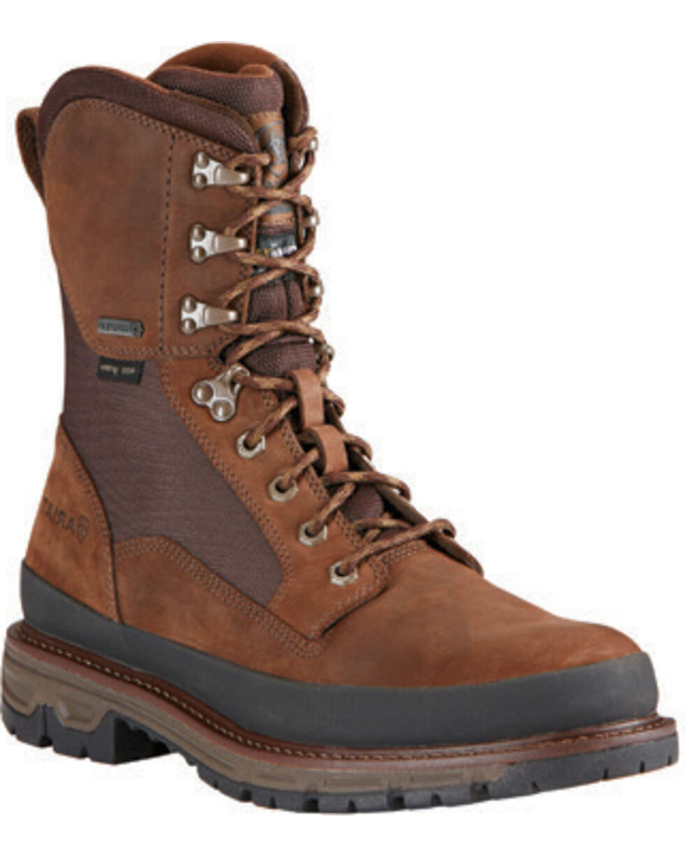 Ariat Men's Insulated Conquest Waterproof Hunting Boots, Brown, hi-res