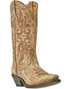Laredo Women's Maricopa Western Boots, Tan, hi-res