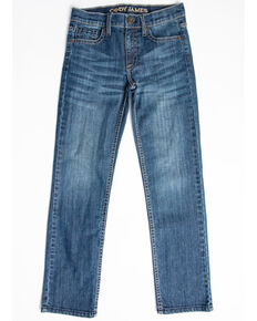 Cody James Boys' 8-20 Light River Stretch Slim Straight Jeans - Big , Blue, hi-res
