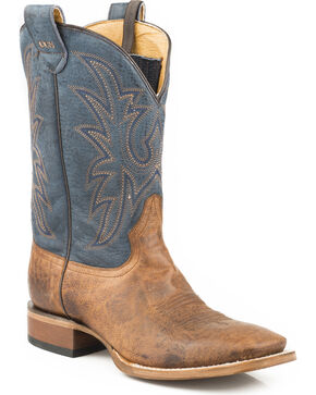Roper Men's Sidewinder Concealed Carry System Cowboy Boots - Wide Square Toe, Tan, hi-res
