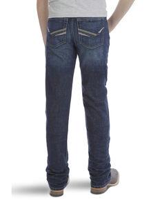 Wrangler 20X Boys' No.42 Hampton Dark Vintage Bootcut Jeans , Blue, hi-res