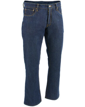 "Milwaukee Leather Men's Blue 32"" Aramid Infused 5 Pocket Loose Fit Jeans - XBig, Blue, hi-res"