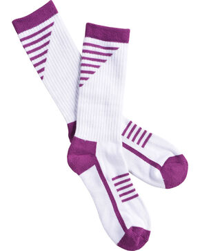 Shyanne Women's Purple Performance Socks with COOLMAX, Purple, hi-res