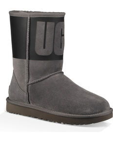 UGG Women s Grey Classic Short Rubber Boots 8bc35a012