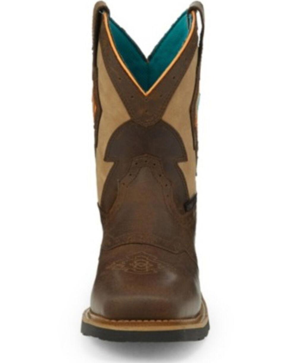 Justin Women's Lala Waterproof Western Work Boots - Composite Toe, Brown, hi-res