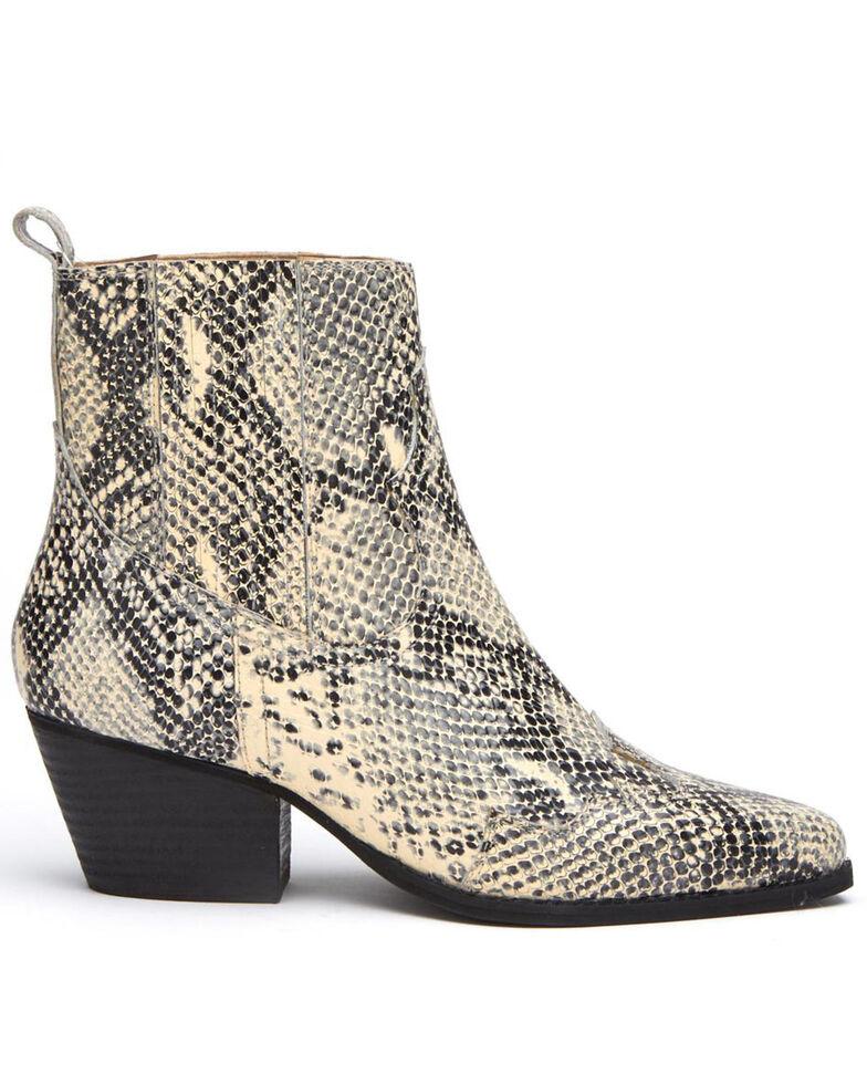 Matisse Women's Avery Fashion Booties - Snip Toe, Black/white, hi-res