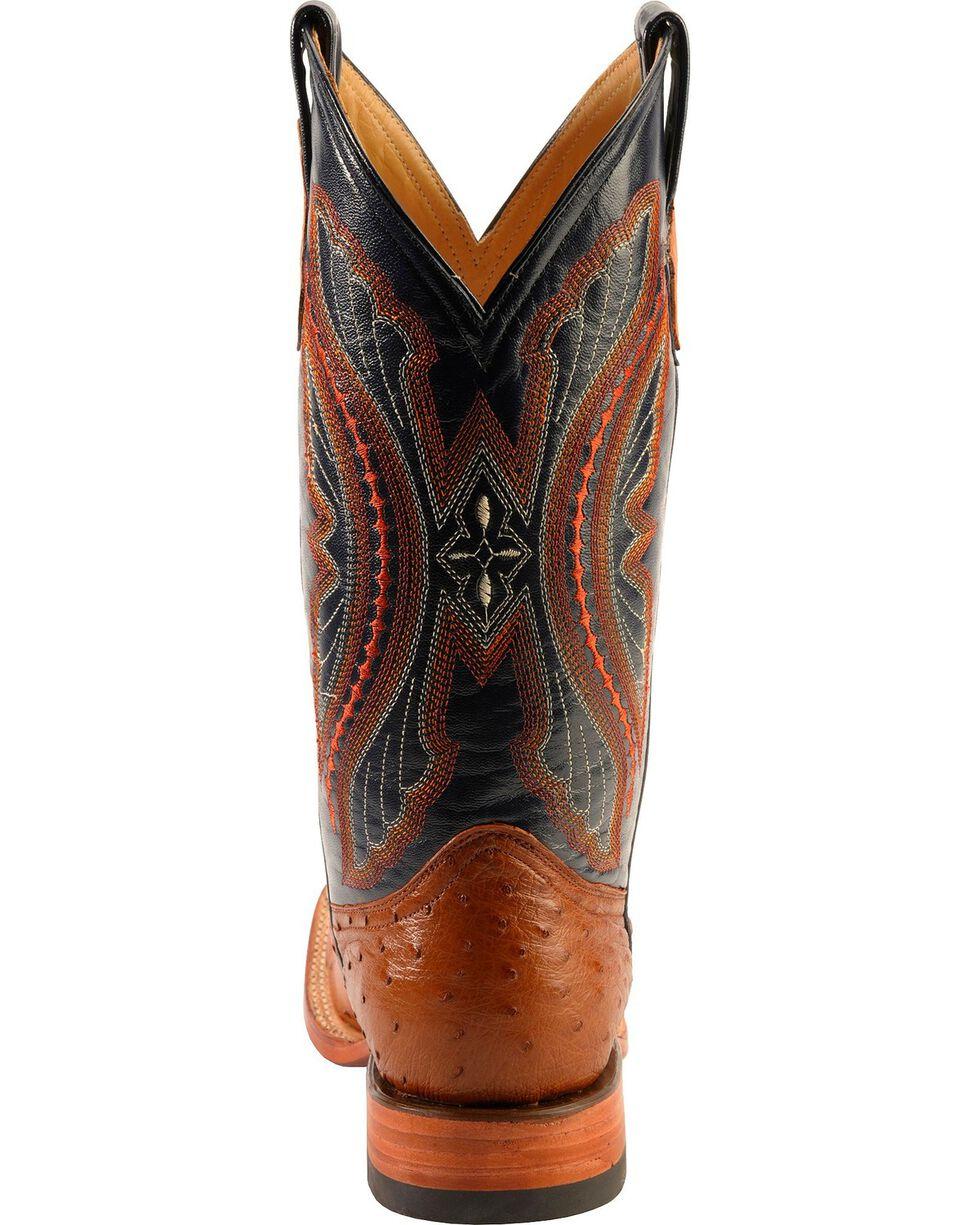 Ferrini Men's Full Quill Ostrich Exotic Western Boots, Cognac, hi-res