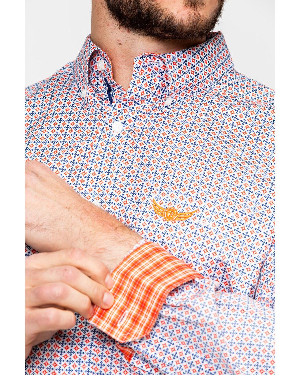 Ariat Men's Mechanic Geo Print Long Sleeve Western Shirt , Multi, hi-res